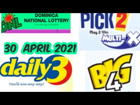Dominica National Lottery Pick 2/Daily 3/Big 4 Best Number for ( 30 Apr. 2021 ) just try