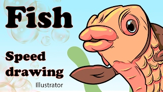 Fish Speed drawing in Adobe Illustrator