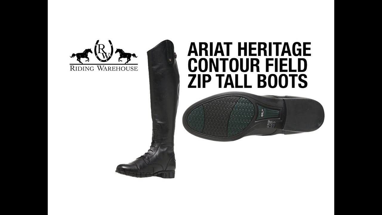 Review Ariat Heritage Contour Field Zip Tall Boots Youtube