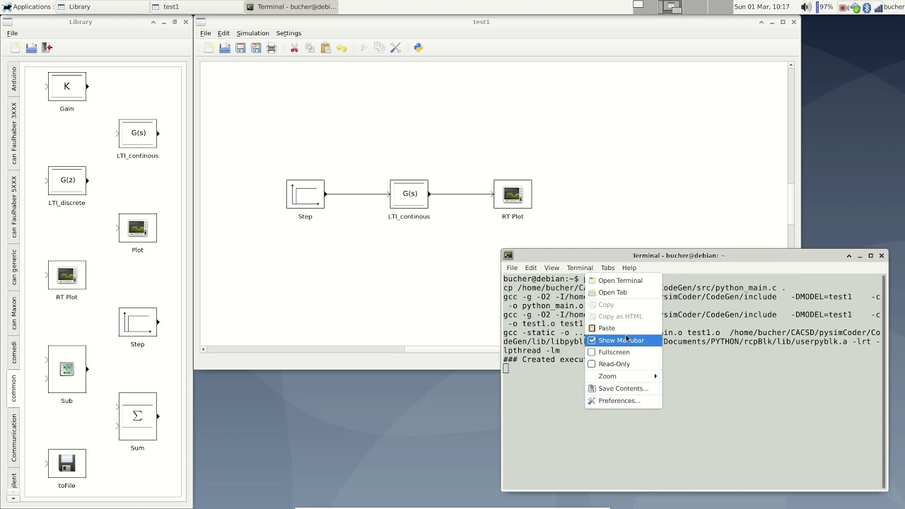 pysimCoder - A block diagram editor for Python - YouTubeYouTube