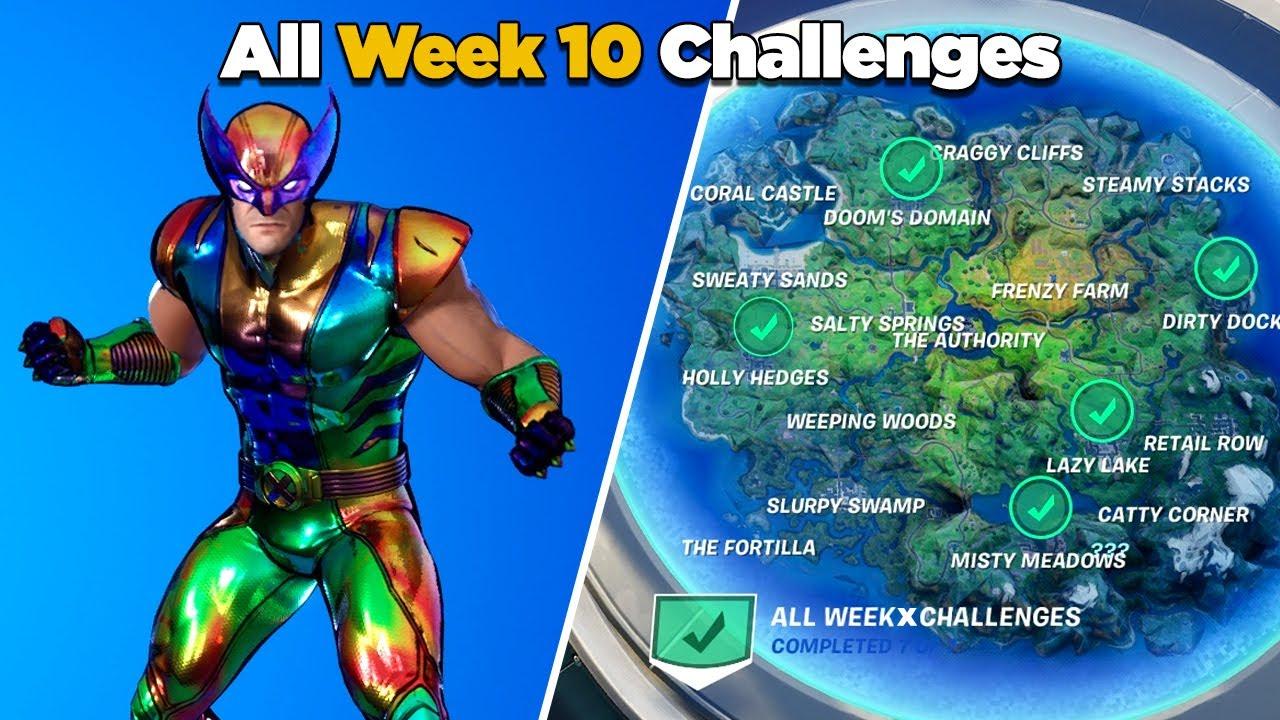 Guide To Complete All Season Fortnite Challanges Fortnite All Week 10 Challenges Guide Fortnite Chapter 2 Season 4 Youtube