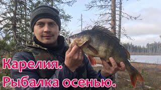 Рыбалка в Карелии осенью Плотва и окунь на удочку