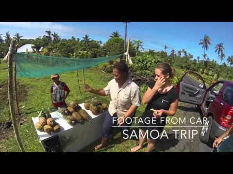 Footage from Car   Samoa Travel