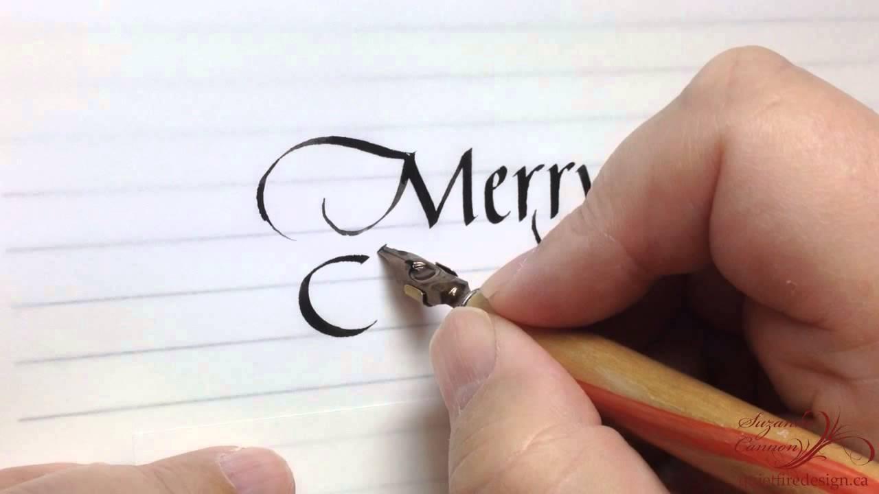 Merry Christmas 2014 - Italic Calligraphy - YouTube