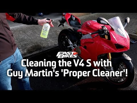 Cleaning the V4 S with Guy Martin's 'Proper Cleaner'!