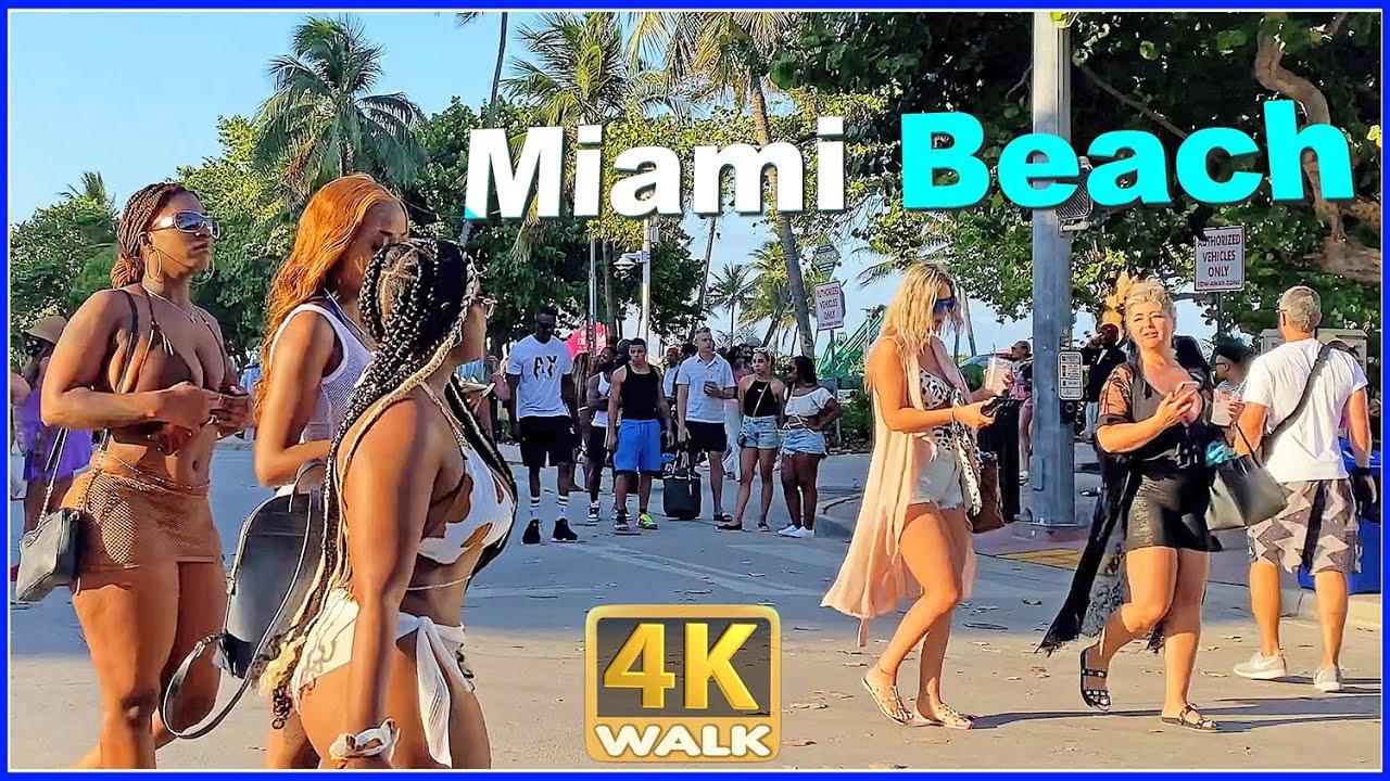 Download 【4K】WALK OCEAN DRIVE South Beach Miami Florida 4k video HDR