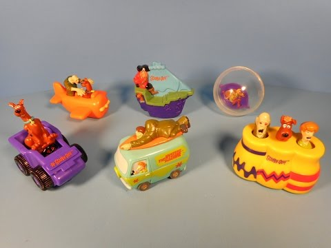 1999 SCOOBY-DOO WHERE ARE YOU! SET OF 6 DAIRY QUEEN KID'S MEAL TOY'S VIDEO REVIEW