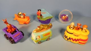 1999 SCOOBY-DOO WHERE ARE YOU! SET OF 6 DAIRY QUEEN KID S MEAL TOY S VIDEO REVIEW