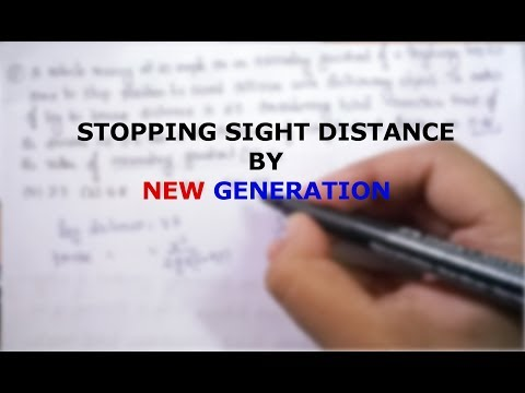 STOPPING SIGHT DISTANCE| GATE 2019| CIVIL ENGINEERING|