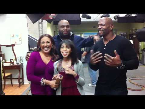 Terry Crews, Teala Dunn, Thelma Hopkins: Are We There Yet cast with comedian John Gray