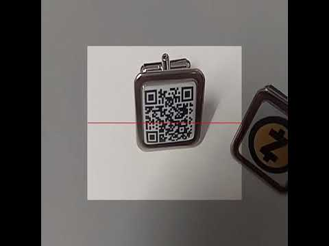 ZEC wallet and QR cufflink.  Transfer funds from one account to another in 20 seconds.