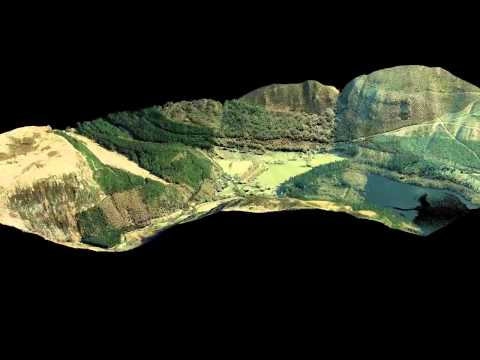 Airborne LiDAR for Lake Vyrnwy, Mid-Wales, UK (Top end of Lake)