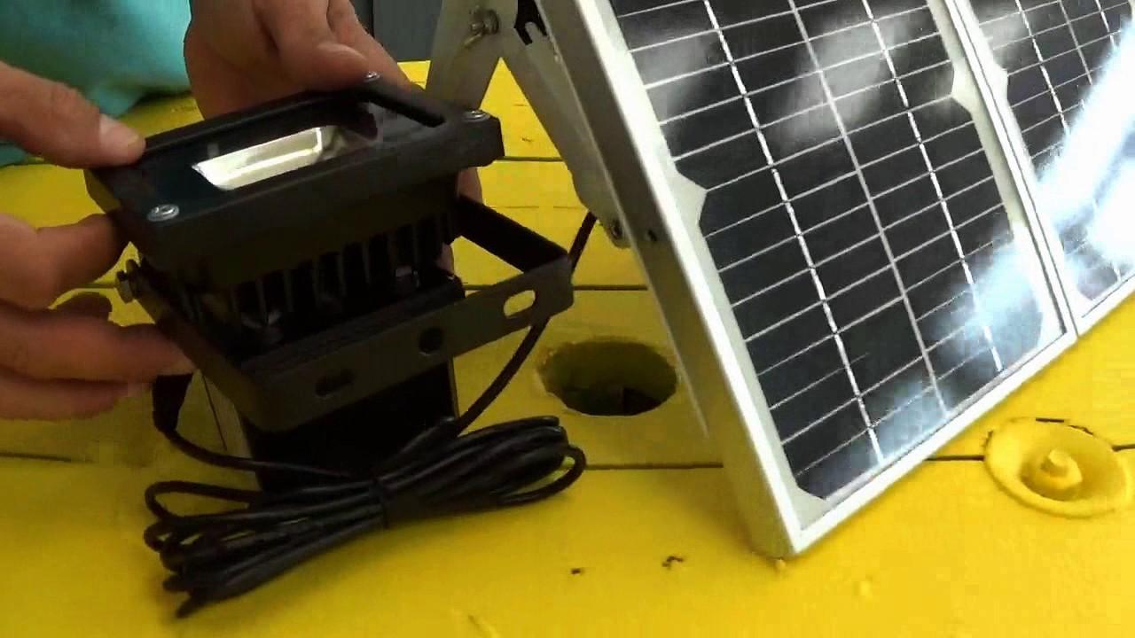 projecteur 10 watt solaire 170302 youtube. Black Bedroom Furniture Sets. Home Design Ideas