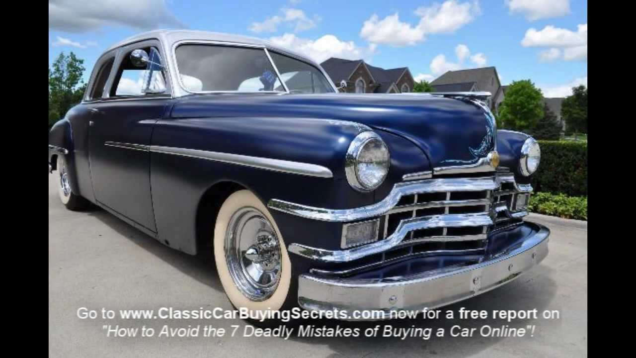 1949 Chrysler Windsor Street Rod Classic Muscle Car For