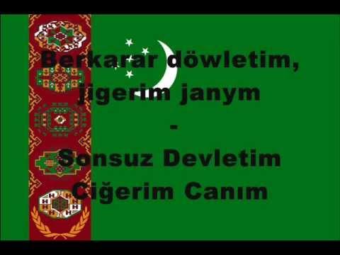 Alt Yazılı Türkmenistan Milli Marşı Türkiye Türkçesi ve Türkmen Türkçesi