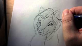 Female Furry Sketch