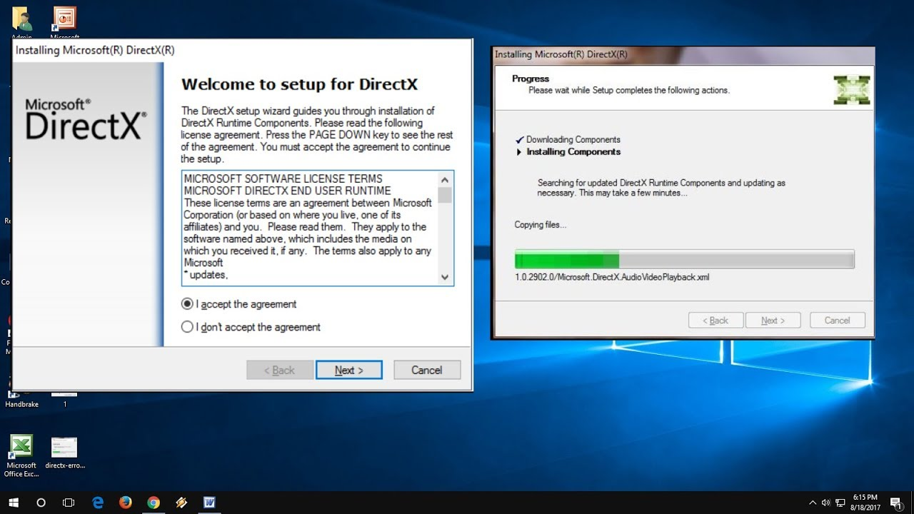 Manual on how to update directx Windows 7