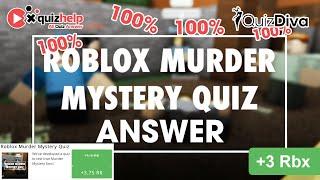 Roblox Murder Mystery Quiz Answers 100% | Quiz Diva | QuizHelp.Top