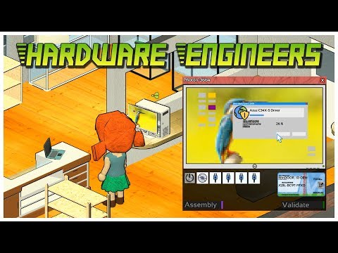 Hardware Engineers [Early Access] - HDD Error - Let's Play / Gameplay / Beverage