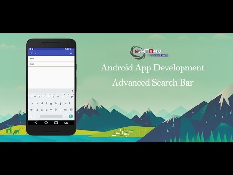 Android Studio Tutorial - Advanced Search Bar