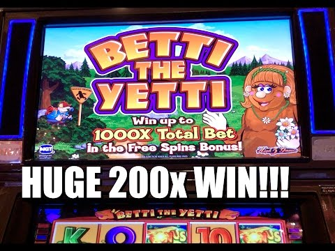 IGT Betti The Yetti Slot: Free Spins Bonus Huge Win