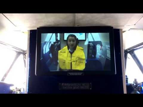 Safety demo video onboard Let410 City Wings to IOM.