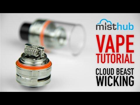 The SMOKTech TFV8 Cloud Beast RBA Wicking Tutorial