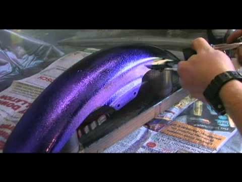 how to airbrush metal flake
