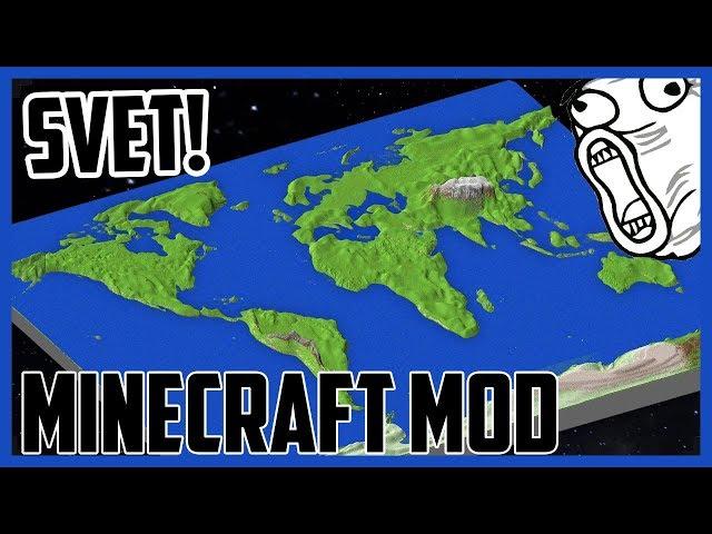 OMG!! EARTH MOD!! - REÁLNY SVET V MINECRAFTE!! - 120MB MOD!!! 1:65 - CZ/SK PREDSTAVENIE