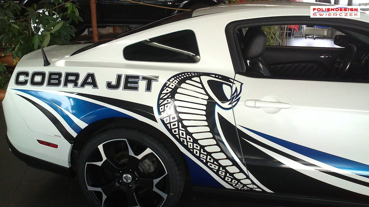 "Mustang Cobra Jet >> Car Wrap Ford Mustang Bj. 2010 Vollverklebung ""Cobra Jet ..."