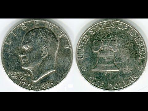 Обзор монеты номиналом 1 доллар США 1976 года.