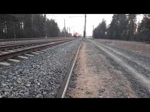 Медленно! Электровоз ВЛ11-224Б/253 с грузовым поездом. БМО ж/д