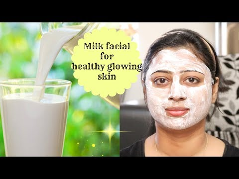 How to do MILK Facial || Natural Home Facial