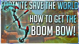 FORTNITE STW: HOW TO GET THE BOOM BOW + CHROMIUM RAMIREZ & DIECAST JONESY REVIEW!