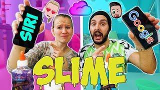 SIRI VS. GOOGLE MACHEN SCHLEIM CHALLENGE! Kaan vs. Kathi #SlimeChallenge - Wer hat besseren Slime?