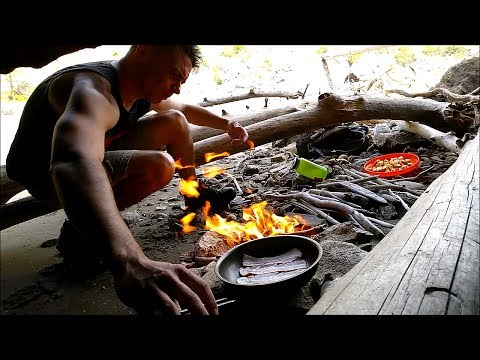 """Hiking Porn Money Shots With """"Bushcraft Bacon Fried Apples"""" Camping Cooking"""
