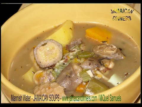 MANNISH WATER, GOAT HEAD BELLY SOUP exotic recipe