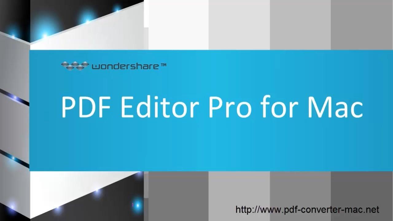 For mac wondershare editor pdf pro
