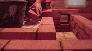 как построить баню из кирпича видео