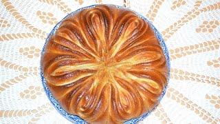 Сдобная булочка цветок.Моя идея,Meine Idee,My idea.Flower Bread.