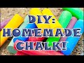 DIY: HOW TO MAKE YOUR OWN HOMEMADE CHALK! Perfect for Kids Arts & Crafts!