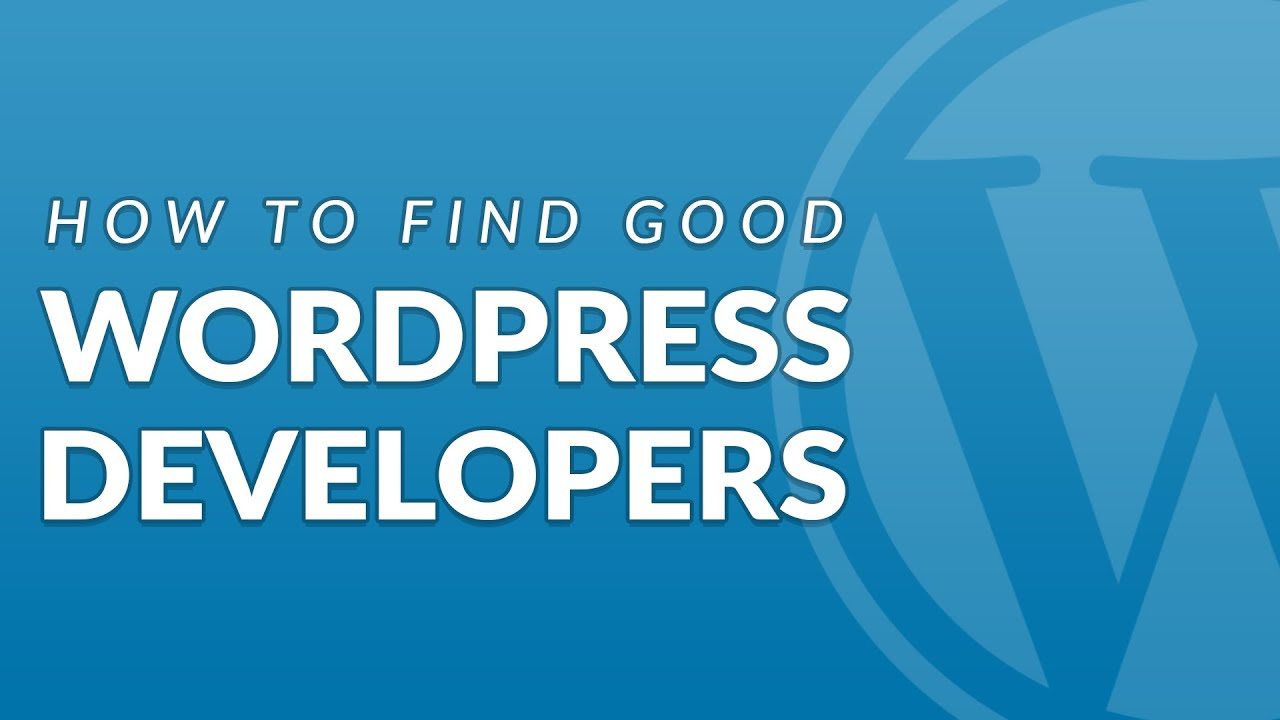 How to Find a Good WordPress Developer for your Project