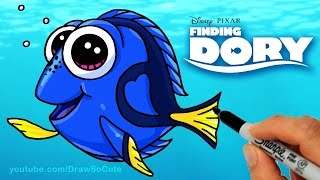 How to Draw Finding Dory  and Nemo Characters