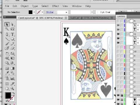 Design Playing Cards Illustrator Template