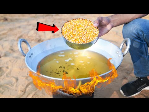 1 Kg Corn VS Hot Oil | क्या इतने सारे पॉपकॉर्न बनेंगे?