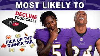 Lamar Jackson, Marcus Peters, Ravens Dish on Which Teammate Ignores Your Call or Picks Up the Tab