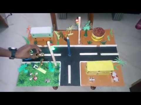 Traffic Signal - Transportation Exhibition model - Science Projects working model