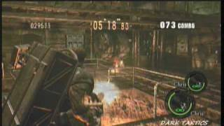 RE5 Mercenaries Reunion duo Chris Heavy Metal x2 816k 150 Combo SS Rank Prison