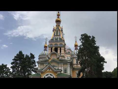Almaty, Kazakhstan Jun 2016: Panfilov Park, Zenkov Cathedral 2