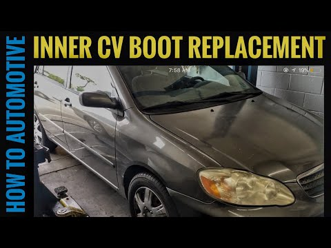 How to Replace the Drivers Side Inner CV Boot on a 2005 Toyota Corolla